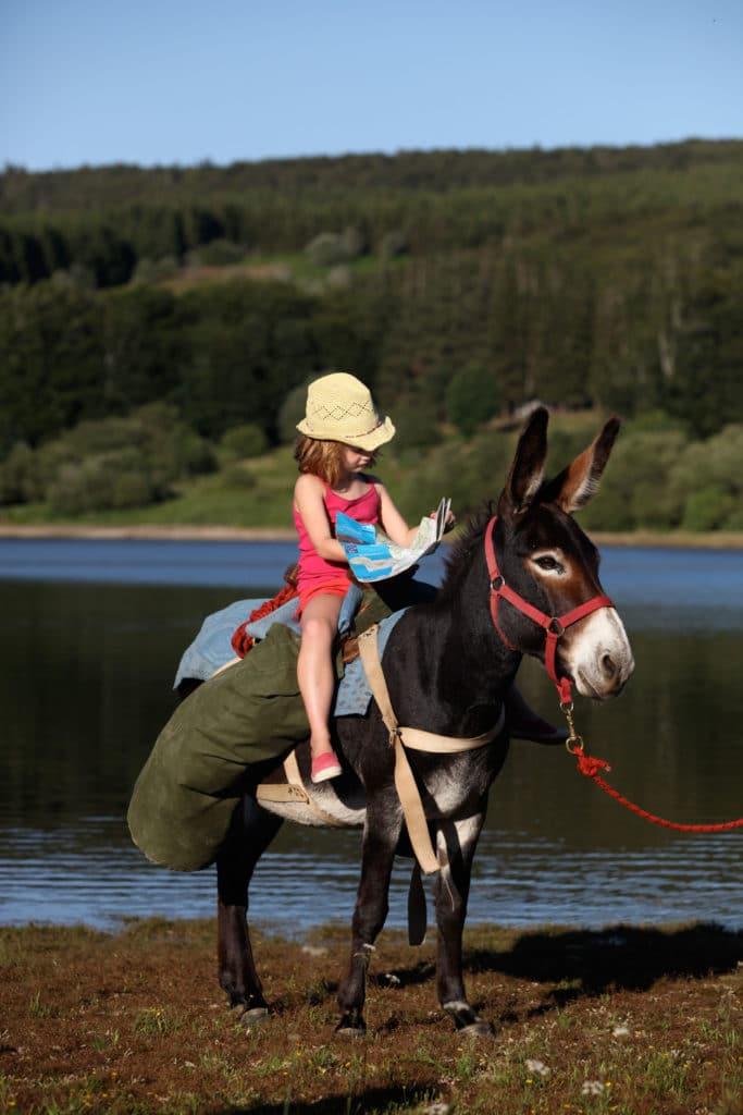Balade avec un âne au lac