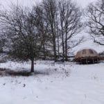 Wigwam sous la neige